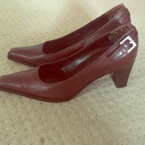 Sergio Rossi Brown Leather Shoes Italy Size 39